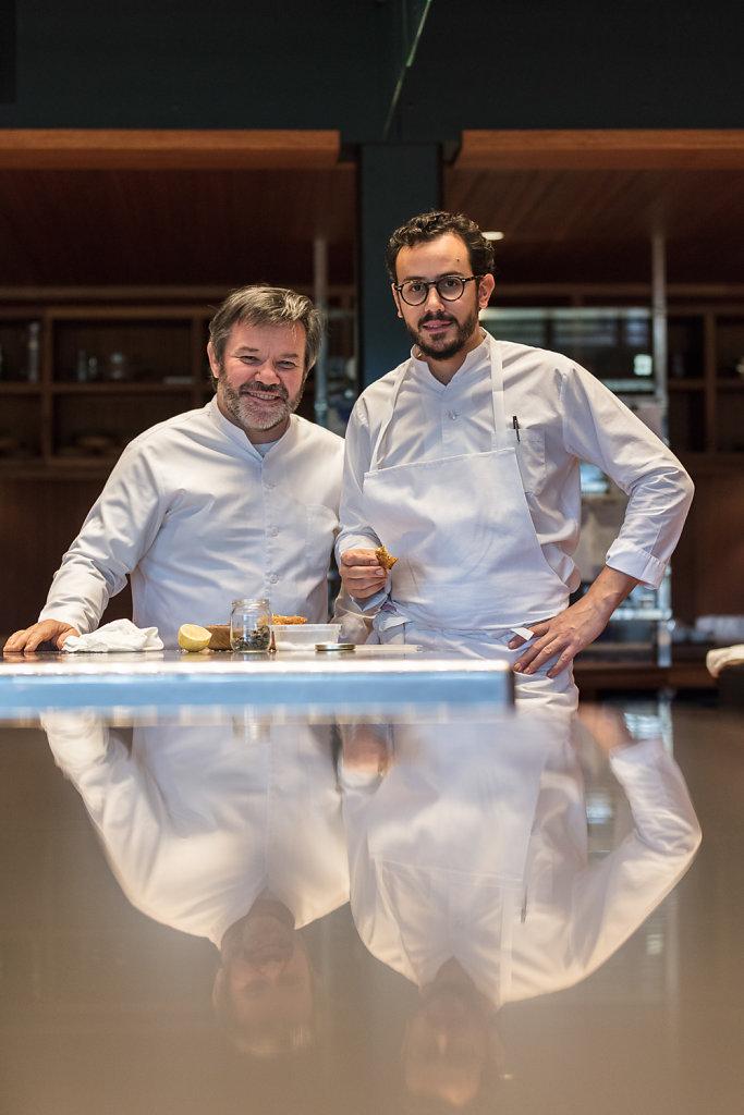 Michel et César Troisgros - restaurant Troisgros